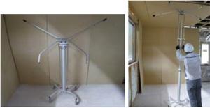 大和ハウス工業、建物の天井施工作業を軽減する「天井施工アシスト機器」を開発