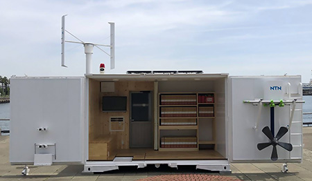 NTN、自然エネルギーで発電・蓄電できるコンテナ収納移動型独立電源を開発