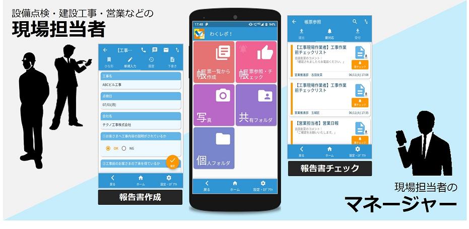 NTTテクノクロス、現場業務の報告をスマートフォンで実現する新サービスを販売