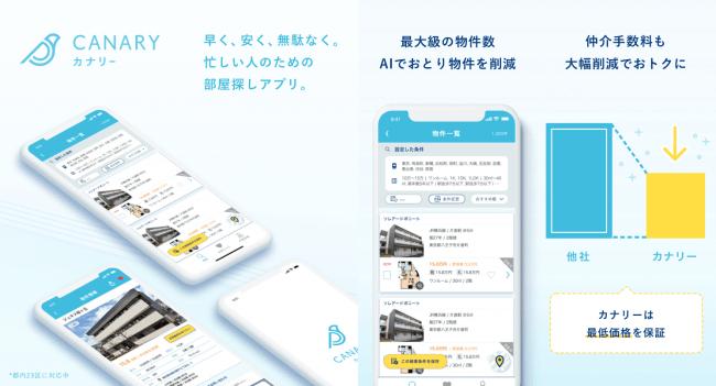 BluAge、希望日時ですぐ内見できる部屋探しアプリ「カナリー」正式版を提供