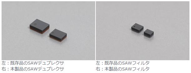 スマホの高密度化を更に加速させる、SAWデュプレクサとSAWフィルタを開発