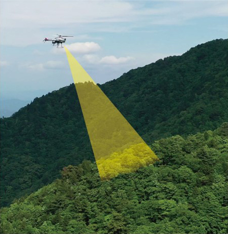 ヤマハ発動機など、産業用無人ヘリによる森林状況調査の実証実験を実施