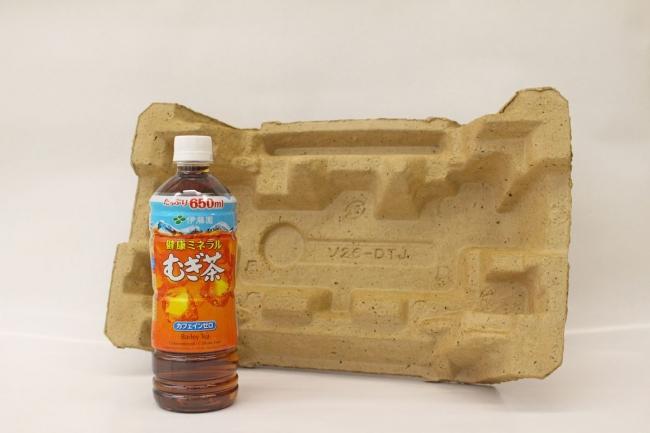 むぎ茶殻リサイクルの緩衝材を開発