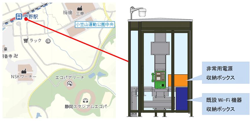 公衆電話ボックス設置型Wi-Fiアクセスポイントへの非常用電源設置の実証実験