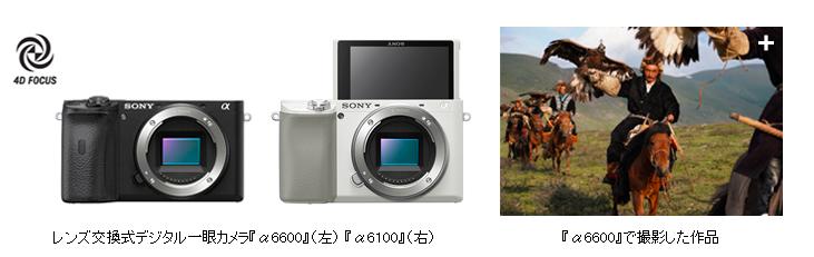 ソニー AI搭載 最先端AF性能ミラーレス一眼カメラ『α6600』発売