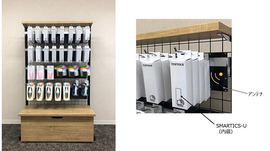 吊り下げタイプ商品棚の在庫をリアルタイムで確認できるスマートシェルフを開発