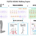 富士通など、疾病による様々な歩き方の特徴を定量化するデジタル化技術を開発