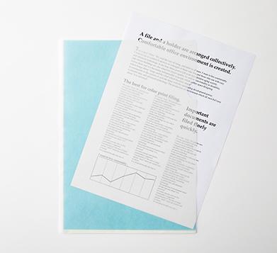 プラス、「紙製クリアーホルダー」を発売