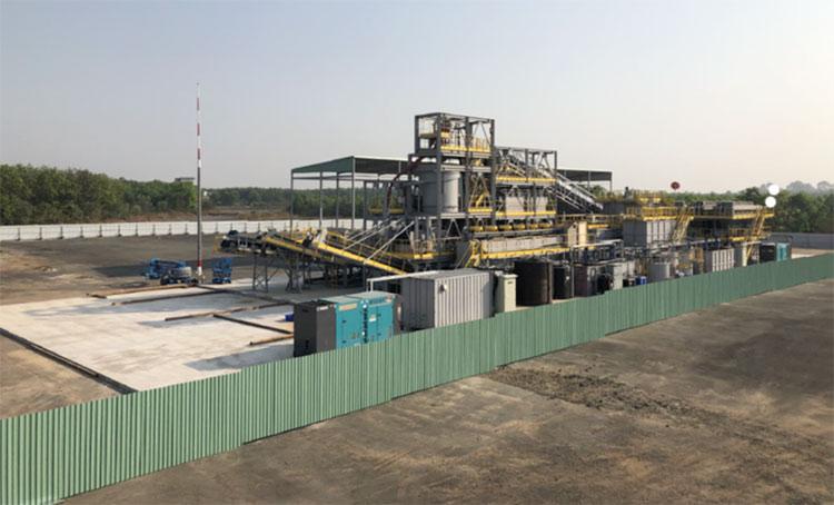 清水建設、ベトナム・ビエンホア空港で枯葉剤由来汚染土壌の洗浄実証試験が完了