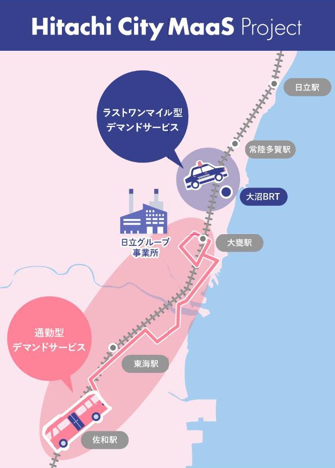 茨城交通・みちのりHD・日立など、日立市においてMaaSの実証実験を開始